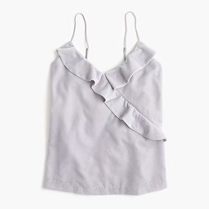J. Crew Ruffle Velvet Going Out Tank Top New NWT 8